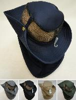 Cotton Boonie Hat with Cloth Flap [Mesh]
